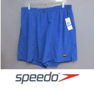 NEW Speedo Blue Mesh Lined Nylon Swim Trunks XL